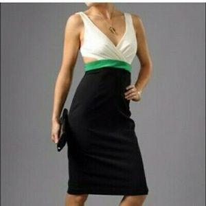 BLACK HALO Color Blocked Cutout Dress EUC/sz 4